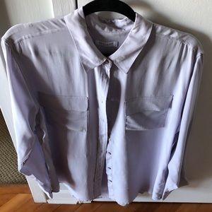 light lavender silk blouse